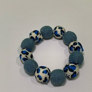 Lightweight beaded jean handmade stretchy bracelet